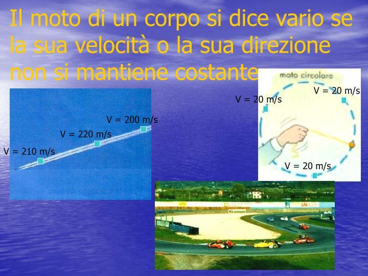V = 200 m/s