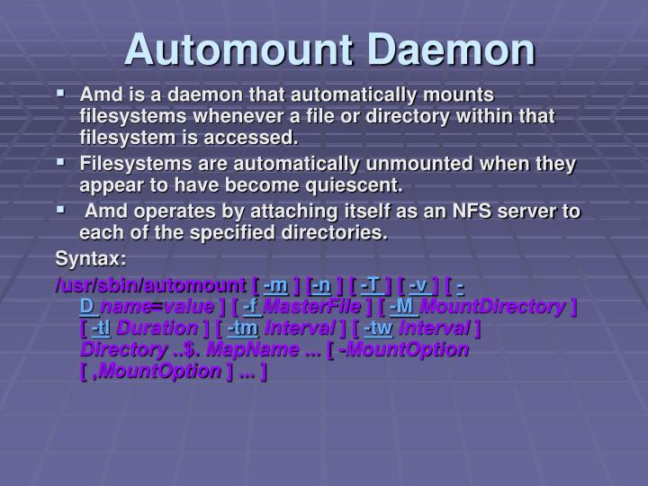 Automount Daemon
