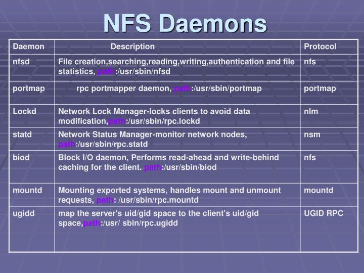 NFS Daemons