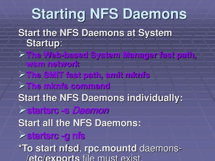 Starting NFS Daemons