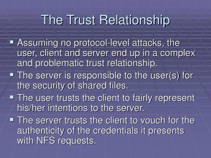 The Trust Relationship