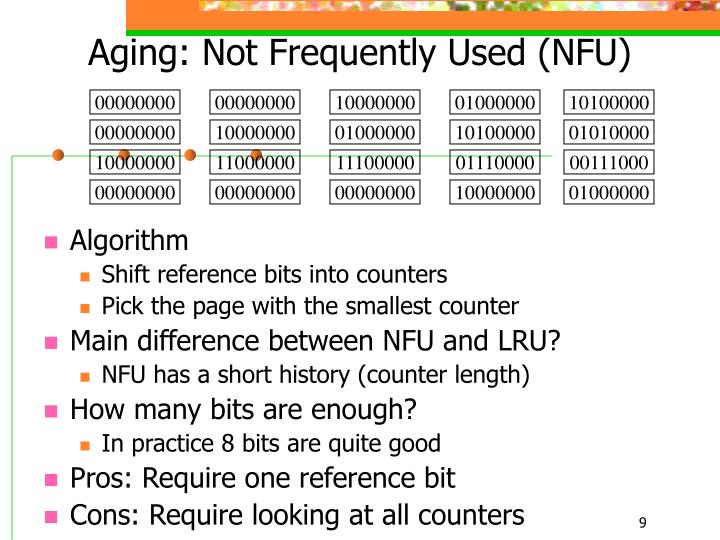 Aging: Not Frequently Used (NFU)
