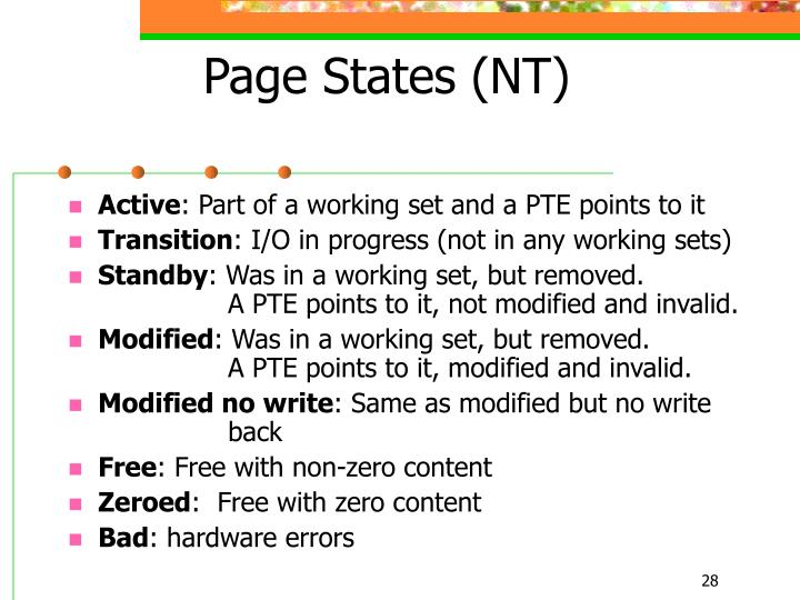 Page States (NT)