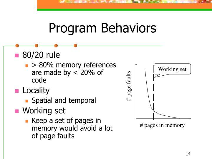 Program Behaviors
