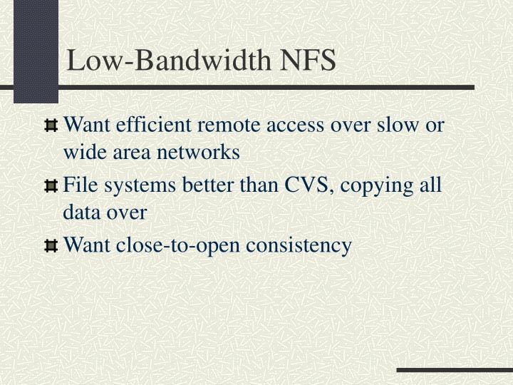 Low-Bandwidth NFS