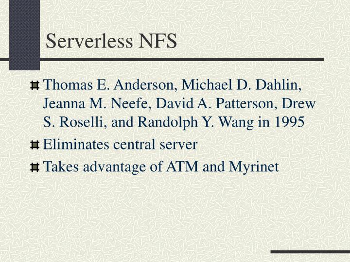 Serverless NFS