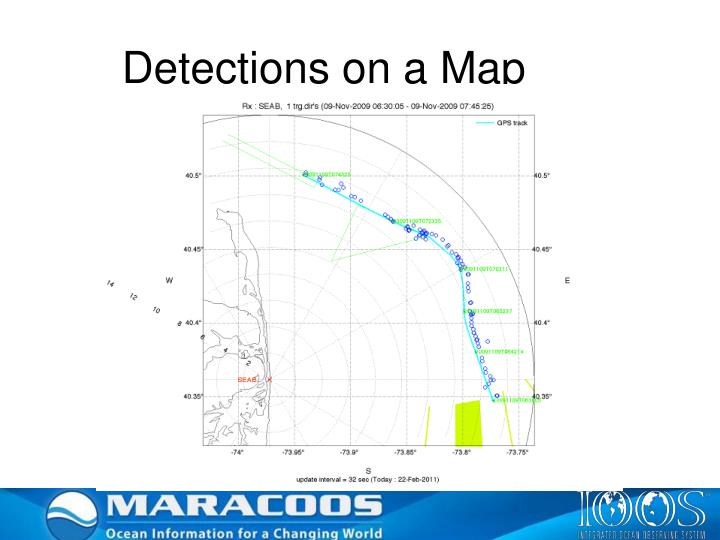 Detections on a Map