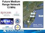future medium range network 13 mhz