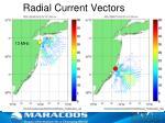 radial current vectors