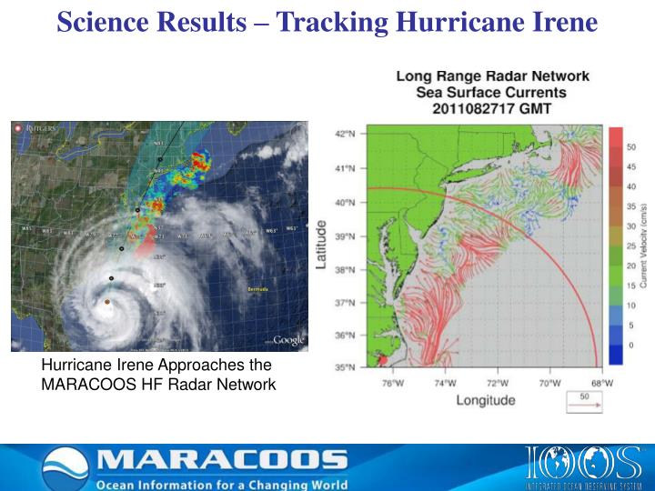 Science Results – Tracking Hurricane Irene