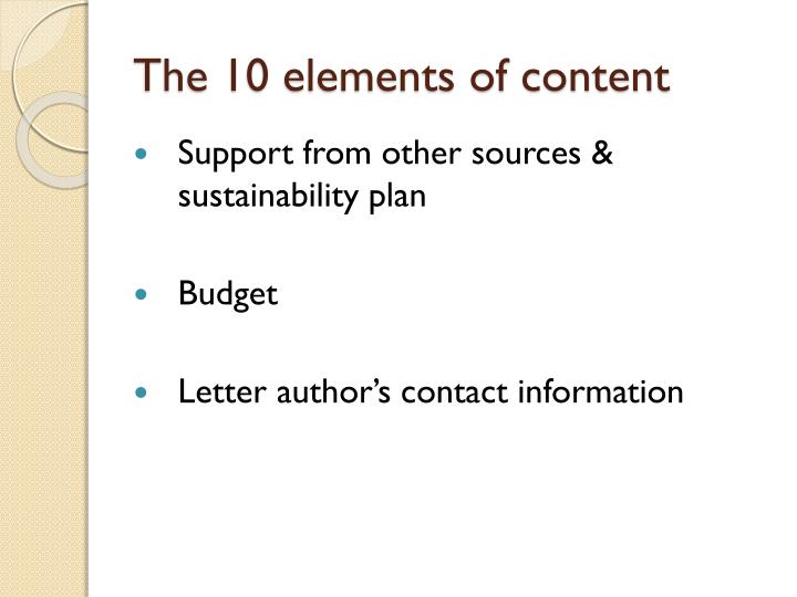 The 10 elements of content