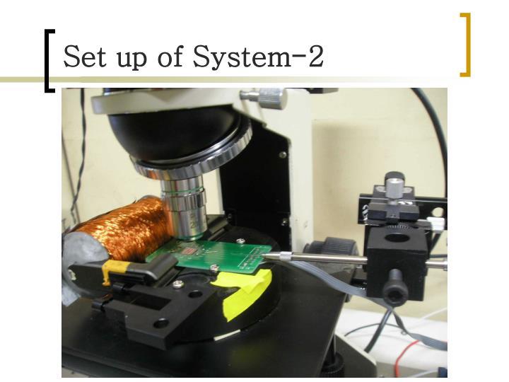 Set up of System-2