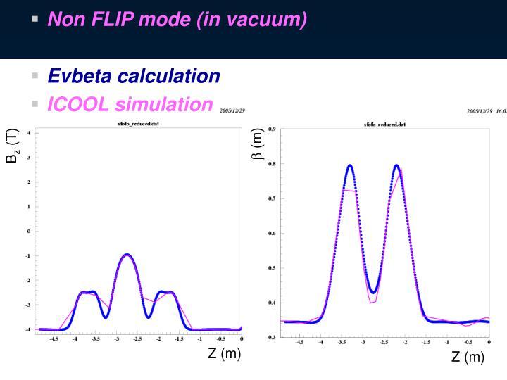 Non FLIP mode (in vacuum)