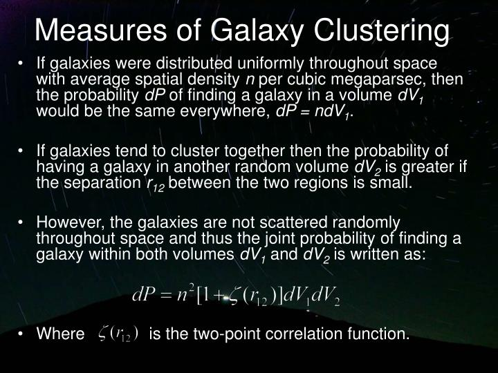Measures of Galaxy Clustering