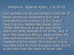 josephus against apion 1 8 38 41