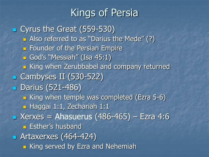 Kings of Persia