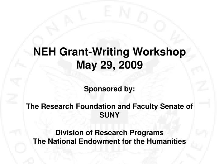 NEH Grant-Writing Workshop