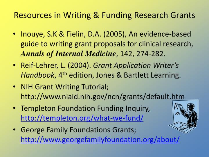 Resources in Writing & Funding Research Grants