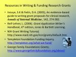 resources in writing funding research grants