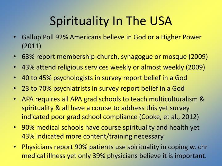 Spirituality In The USA