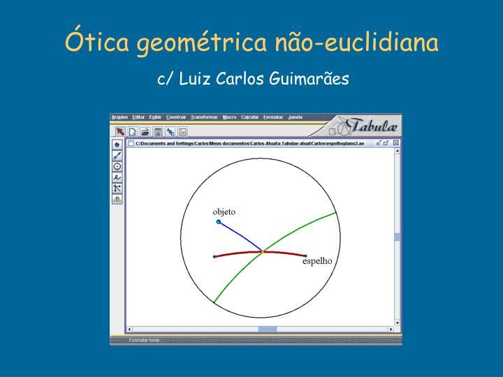 Ótica geométrica não-euclidiana
