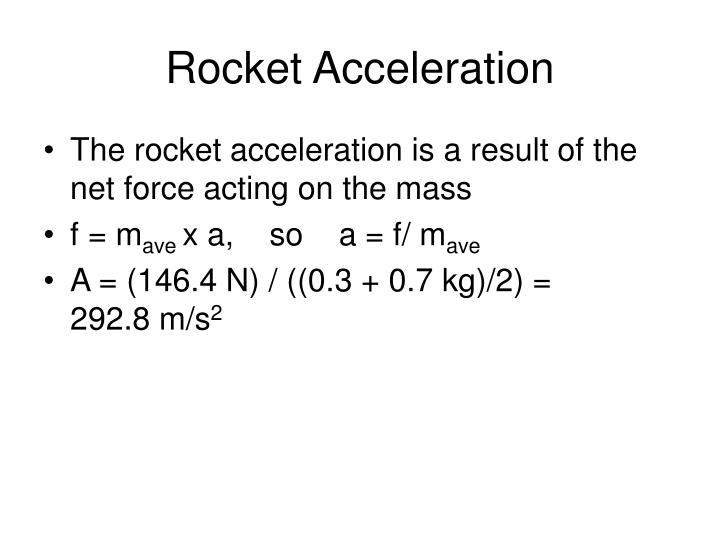 Rocket Acceleration