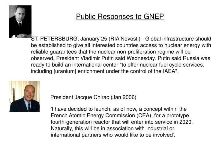 Public Responses to GNEP