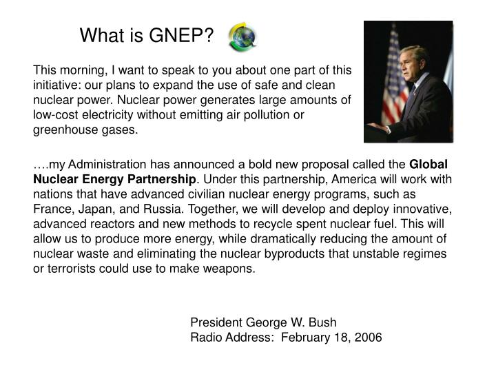What is GNEP?