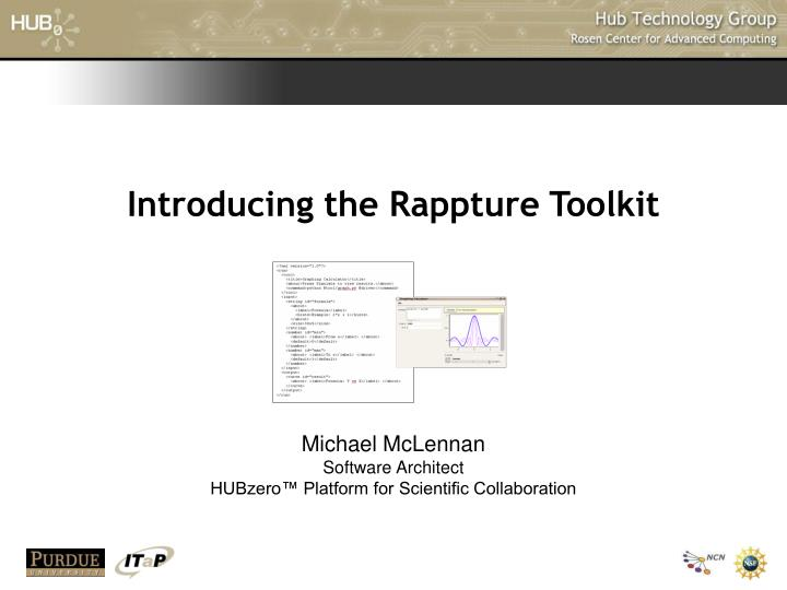 introducing the rappture toolkit