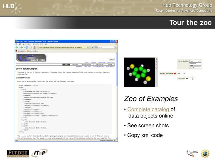Tour the zoo