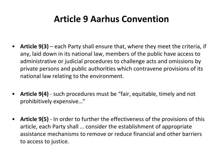 Article 9 Aarhus Convention