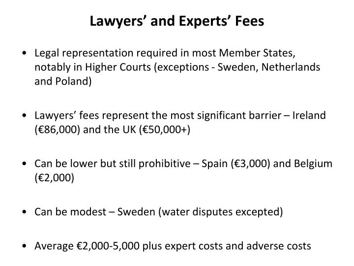 Lawyers' and Experts' Fees