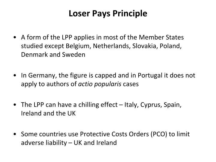 Loser Pays Principle
