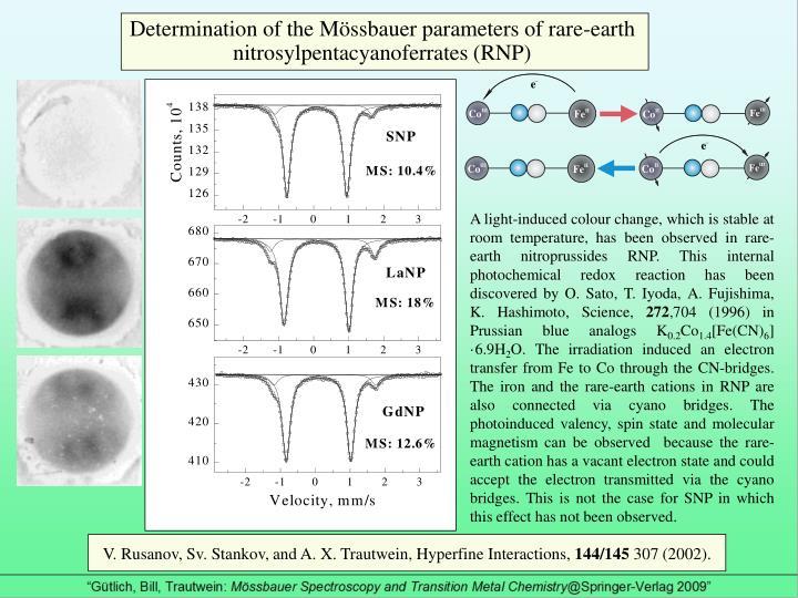 Determination of the Mössbauer parameters of rare-earth