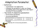 adaptation parameter