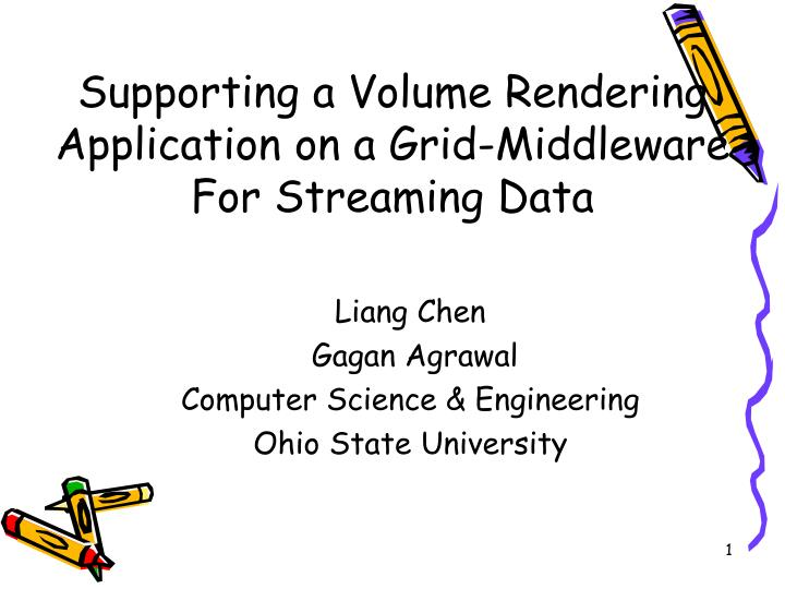 liang chen gagan agrawal computer science engineering ohio state university