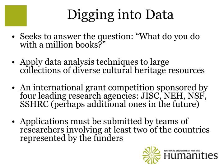 Digging into Data