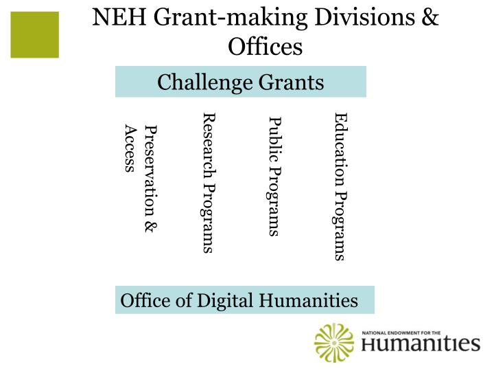 NEH Grant-making Divisions & Offices