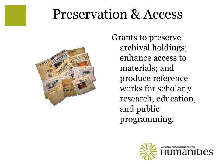 Preservation & Access