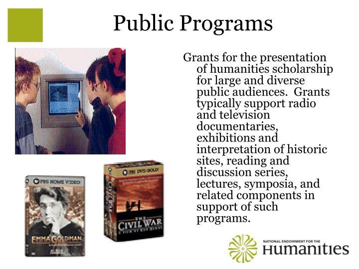 Public Programs