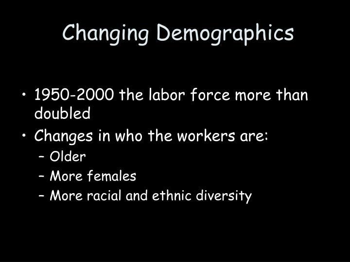 Changing Demographics