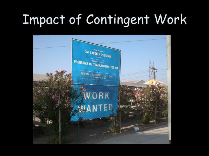Impact of Contingent Work