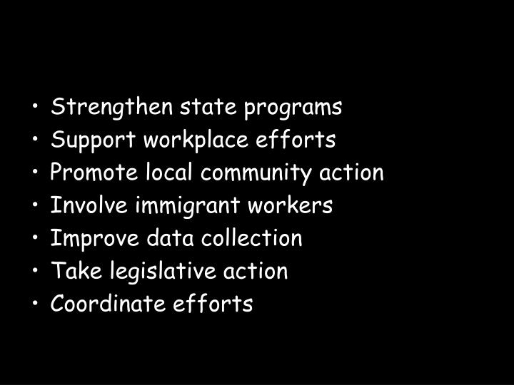 Strengthen state programs
