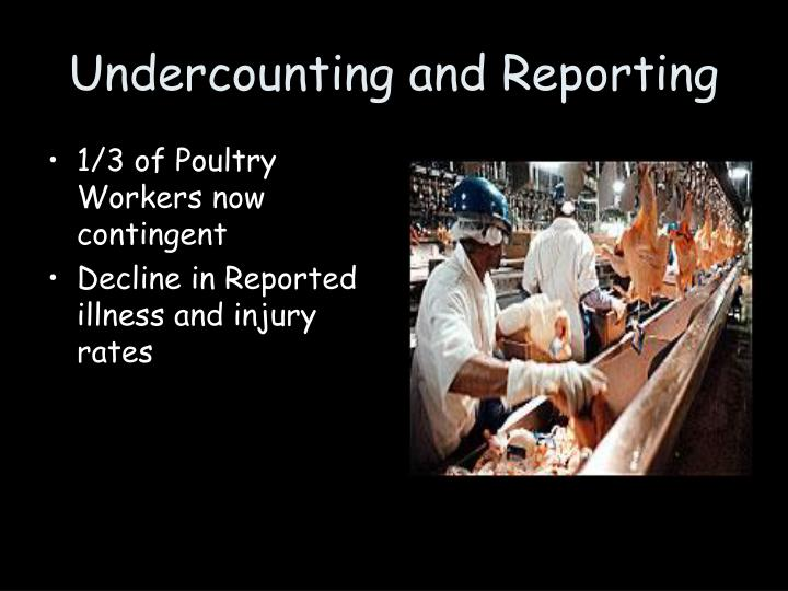Undercounting and Reporting