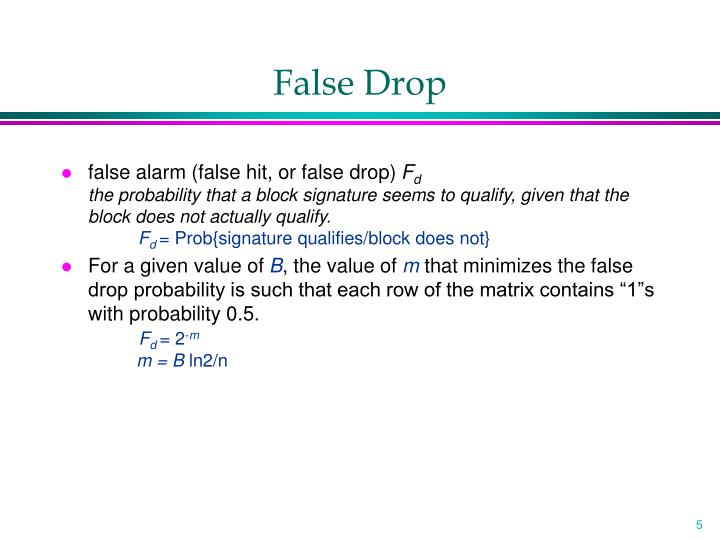 False Drop
