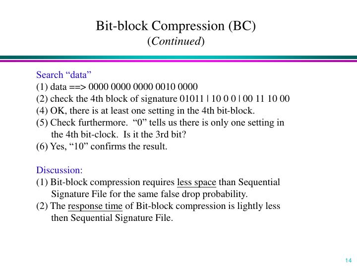 Bit-block Compression (BC)