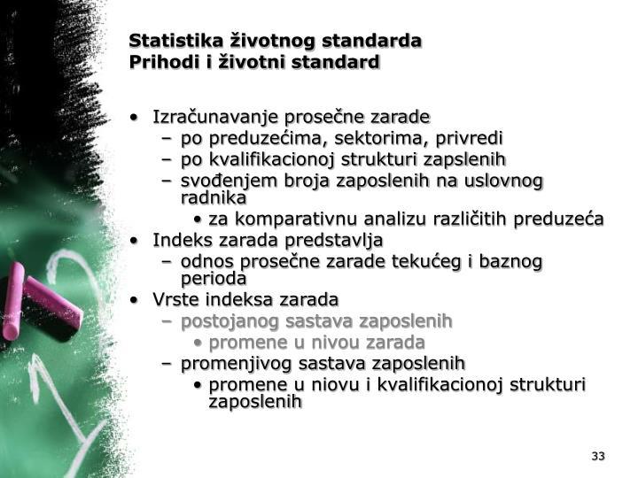 Statistika životnog standarda