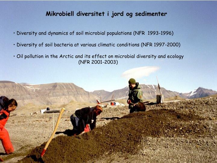 Mikrobiell diversitet i jord og sedimenter