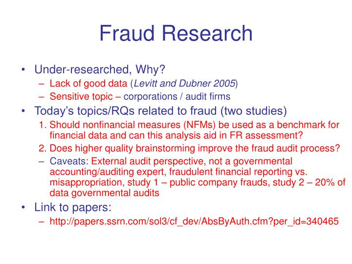 Fraud Research