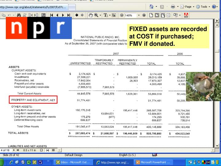 FIXED assets are recorded